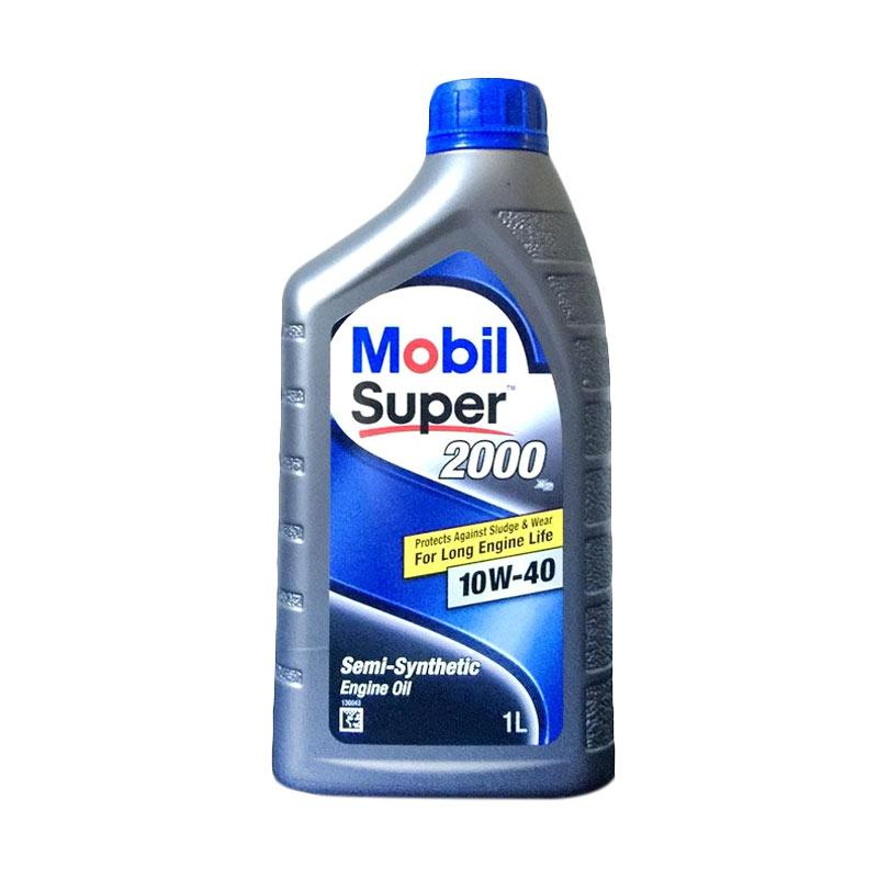 Mobil Super 2000 X2 Semi Synthetic Engine Oil 10W - 40 Oli Pelumas for Mobil [1 L]