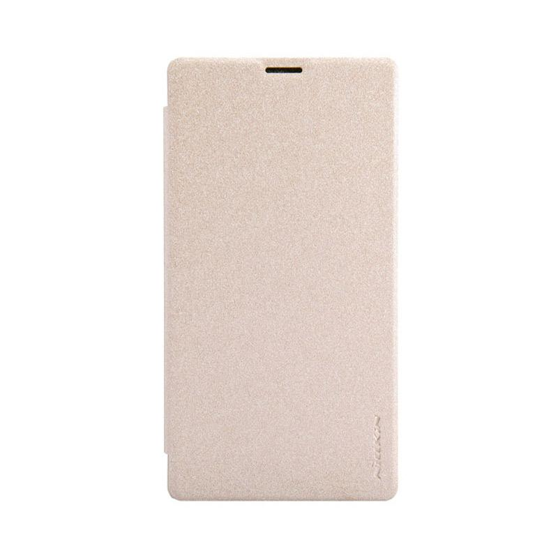 Nillkin Sparkle Leathercase Flip Cover Original Casing for Sony Xperia T3 - Gold