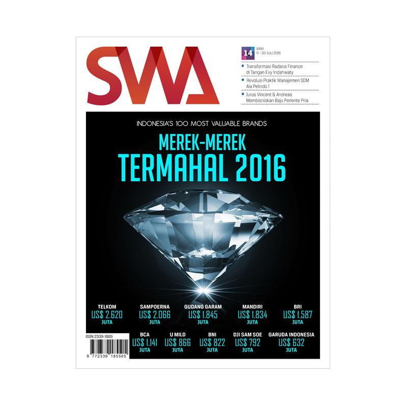 SWA edisi 14-2016 11-20 Juli 2016 Indonesia's 100 Most Valuable Brands Merek-Merek termahal 2016 Majalah
