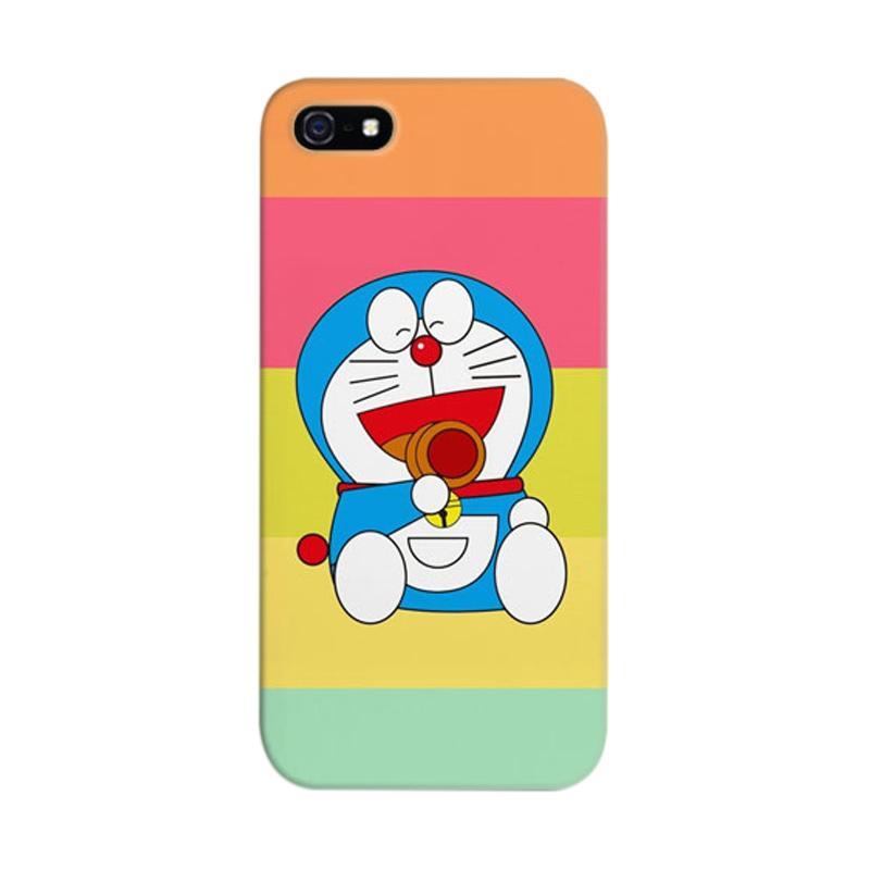 Indocustomcase Doraemon Rain Cover Casing for Apple iPhone 5/5S/SE