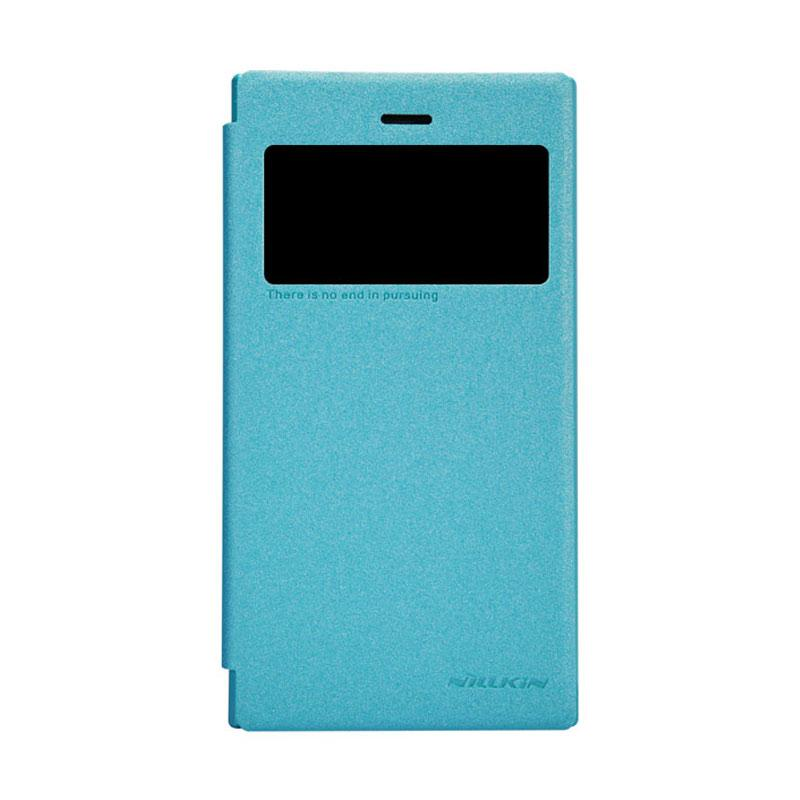 Nillkin Sparkle Leather Flip Cover Orginial Casing for BlackBerry Z3 - Blue