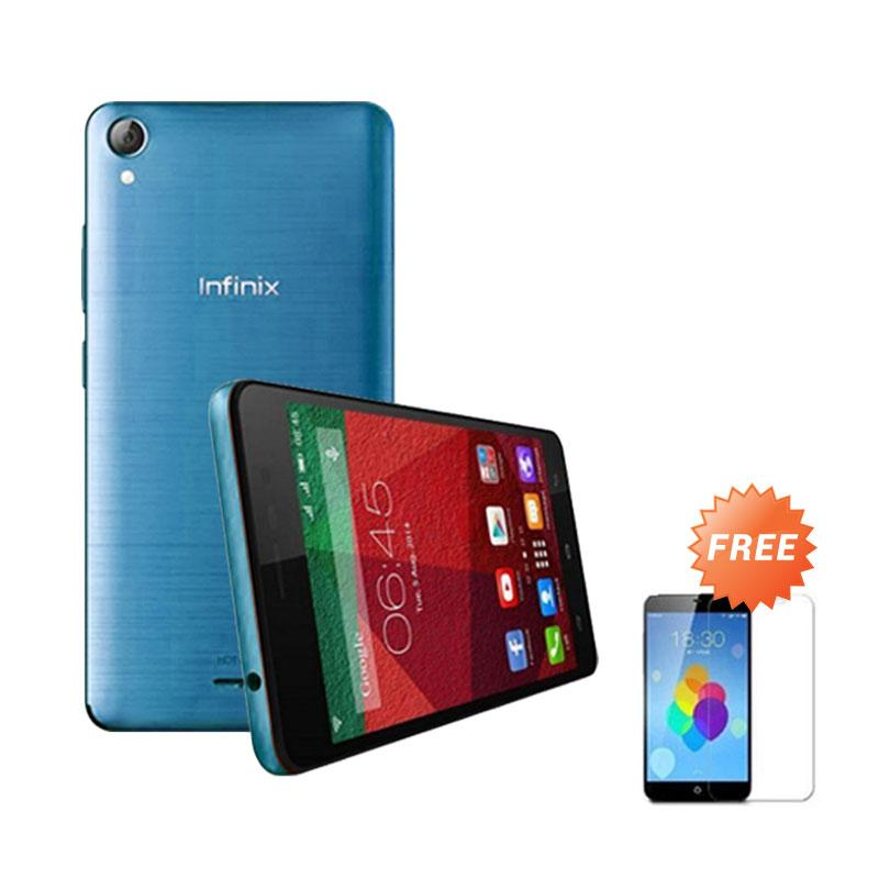 Ultrathin Casing for infinix Hot Note - Blue Clear + Free Tempered Glass