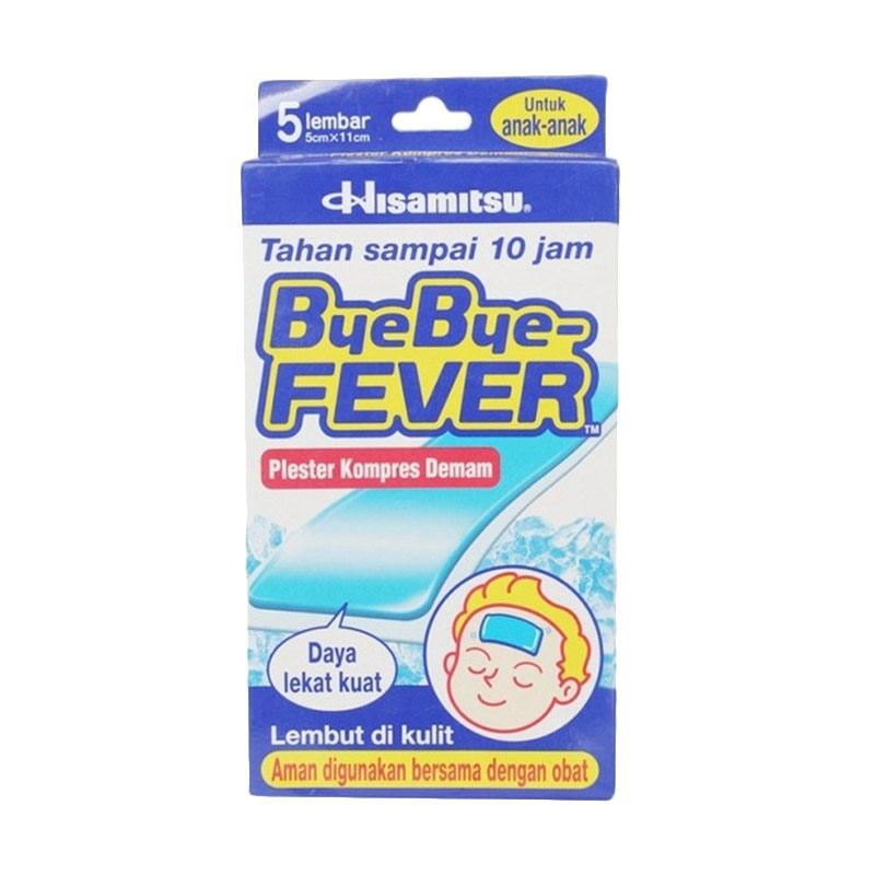 Hisamitsu Bye Bye Fever Plester Kompres Demam untuk Anak [5 Lembar]