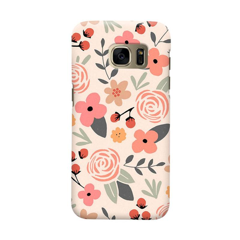 Indocustomcase Flower Fest Cover Casing for Samsung Galaxy S7