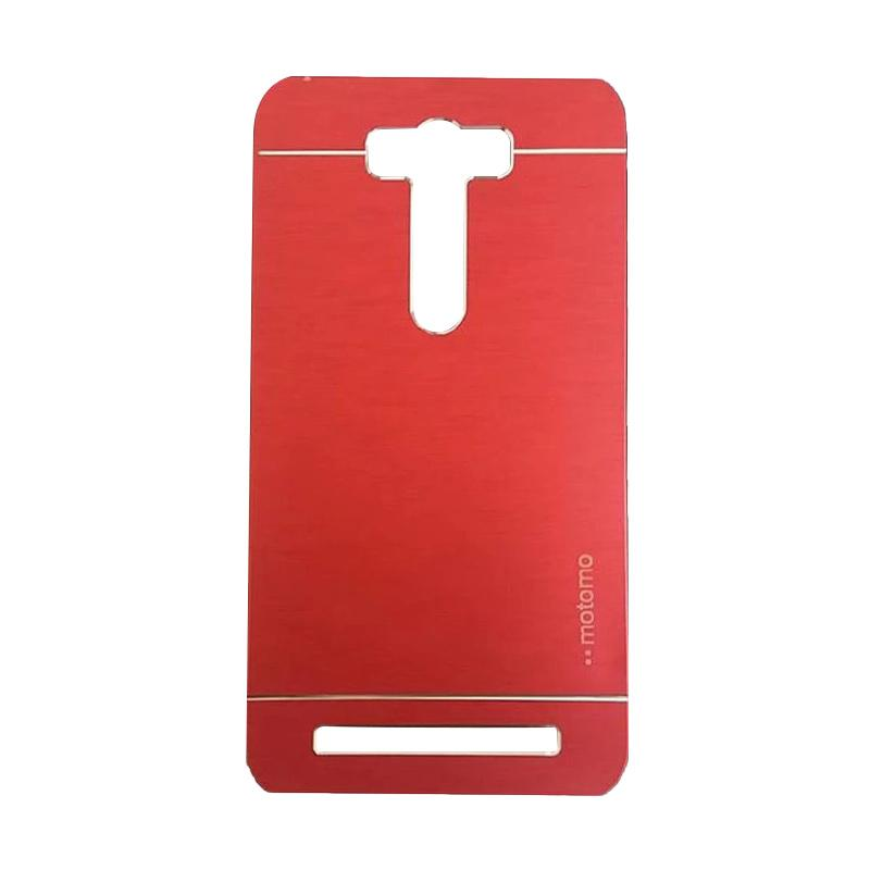 Motomo Metal Backcase Hardcase Casing for Asus Zenfone 2 Laser ZE500KL 5.0 Inch - Red