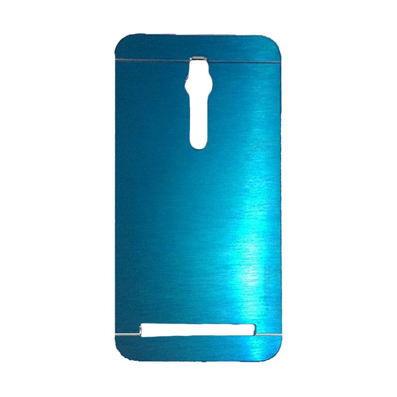 Motomo Metal Backcase Hardcase Casing for Asus Zenfone 2 ZE551ML 5.5 Inch - Dark Blue