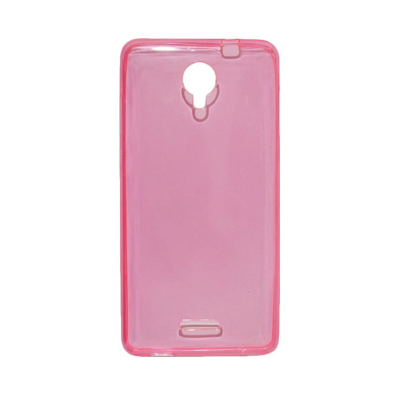 VR Ultrathin Silicone Jelly Softcase Casing for Smartfren Andromax L - Pink