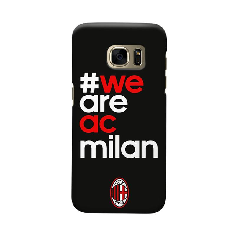 Indocustomcase AC Milan ACM01 Cover Casing for Samsung Galaxy S6 Edge