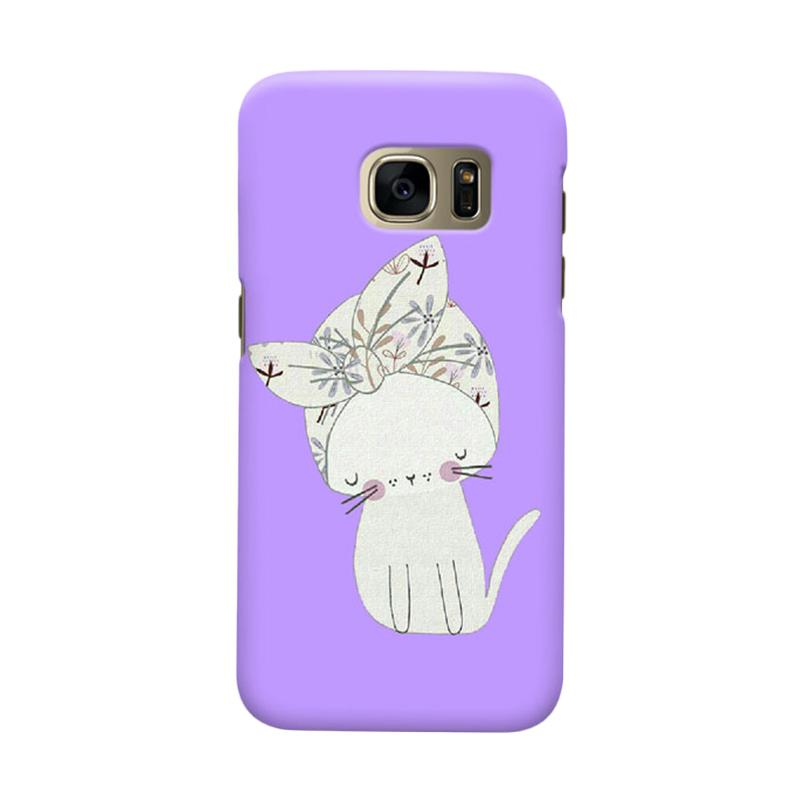 Indocustomcase Viola Cat Cover Casing for Samsung Galaxy S6