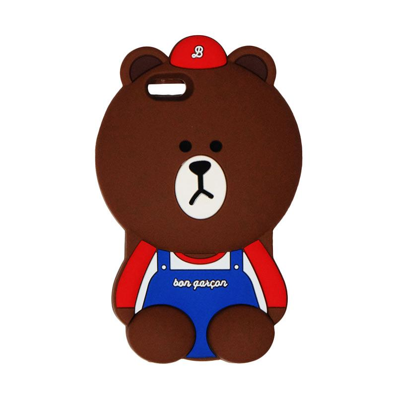 VR 3D Bear Bon Qaxcon Edition Silicon Softcase Casing for iPhone 6/6G/6S 4.7 Inch - Brown