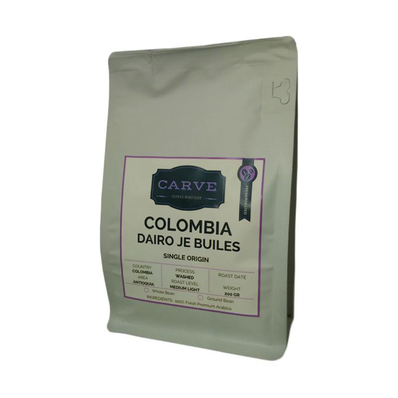 Carve Dairo Je Builes Arabica Specialty Coffee Washed Colombia Biji Kopi [200 g]