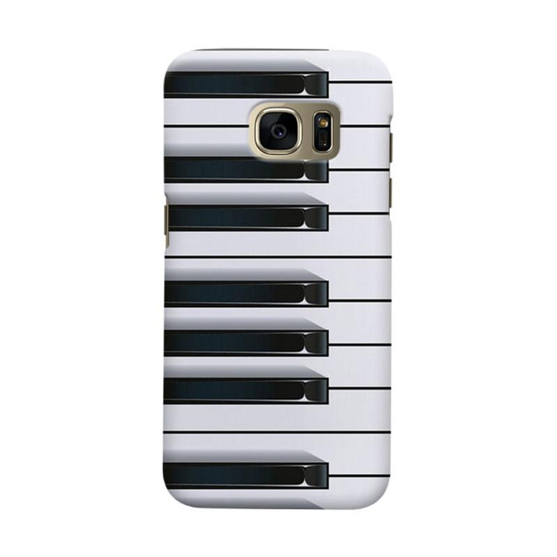 Indocustomcase piano Casing for Samsung Galaxy S6 Edge