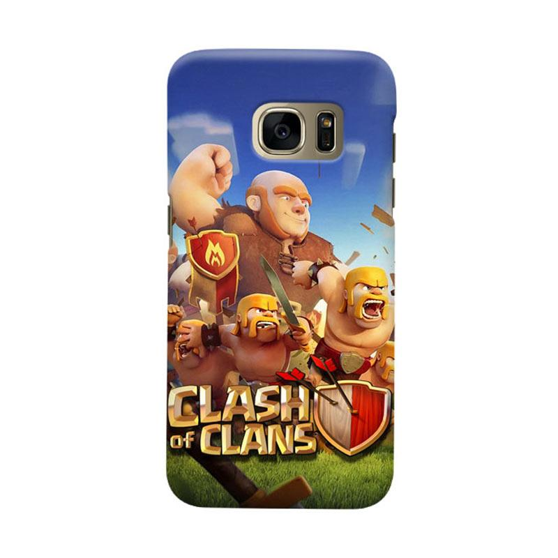 Indocustomcase Clash Of Clans Cover Casing for Samsung Galaxy S7
