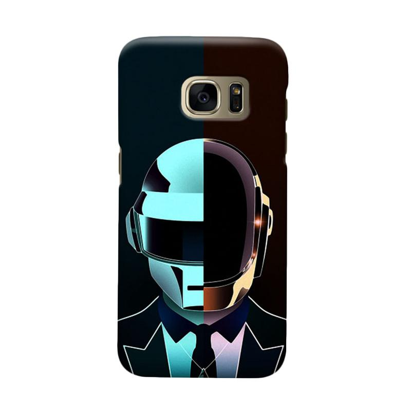 Indocustomcase Daftpunk Cover Casing for Samsung Galaxy S7 Edge