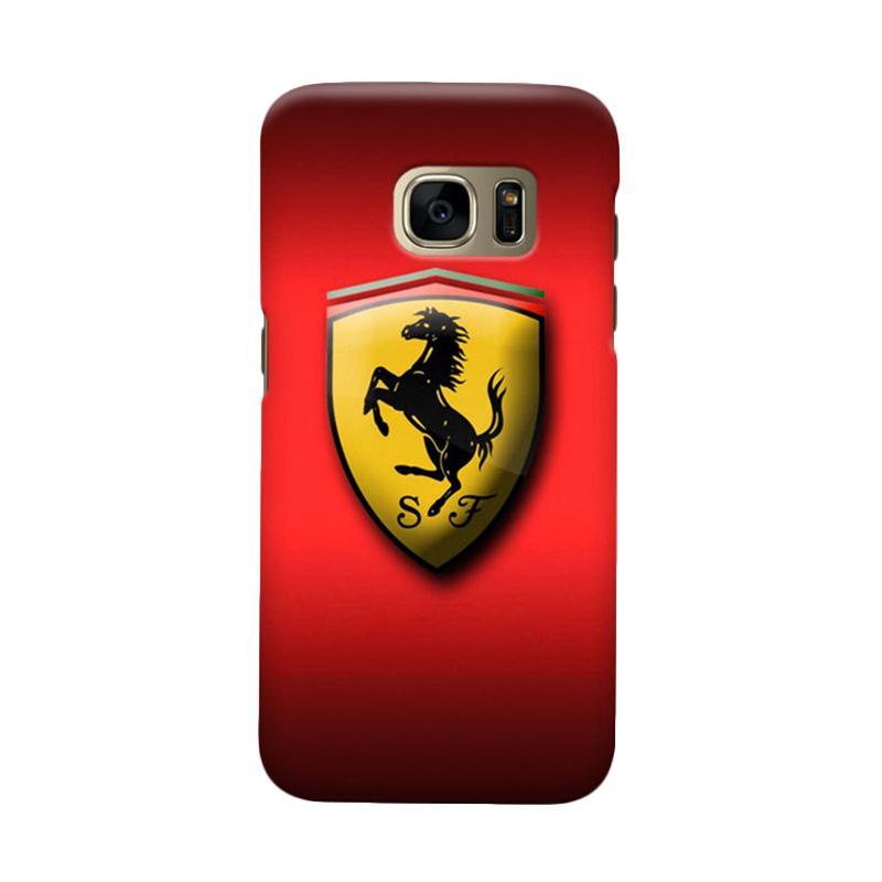 Indocustomcase Ferarri Logo Cover Casing for Samsung Galaxy S6