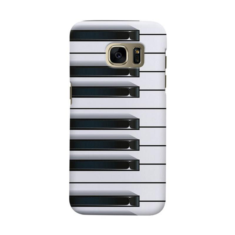 Indocustomcase Piano Cover Casing for Samsung Galaxy S7 Edge