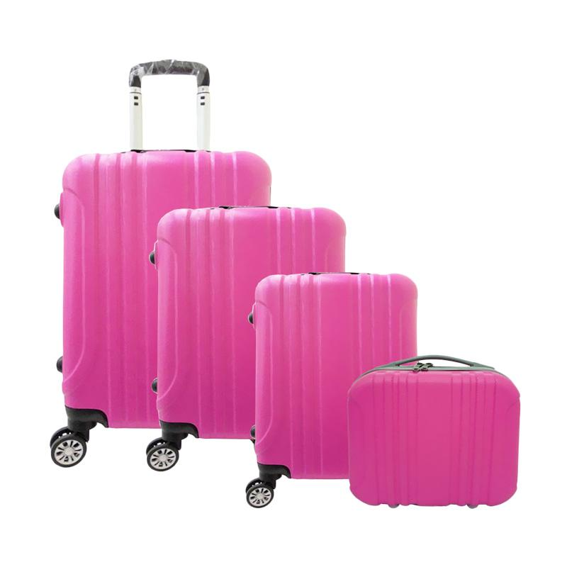 Spek Harga Koper Polo Maple B11 ABS Vertical Stripe Six 4in1 Koper - Pink Fushia [