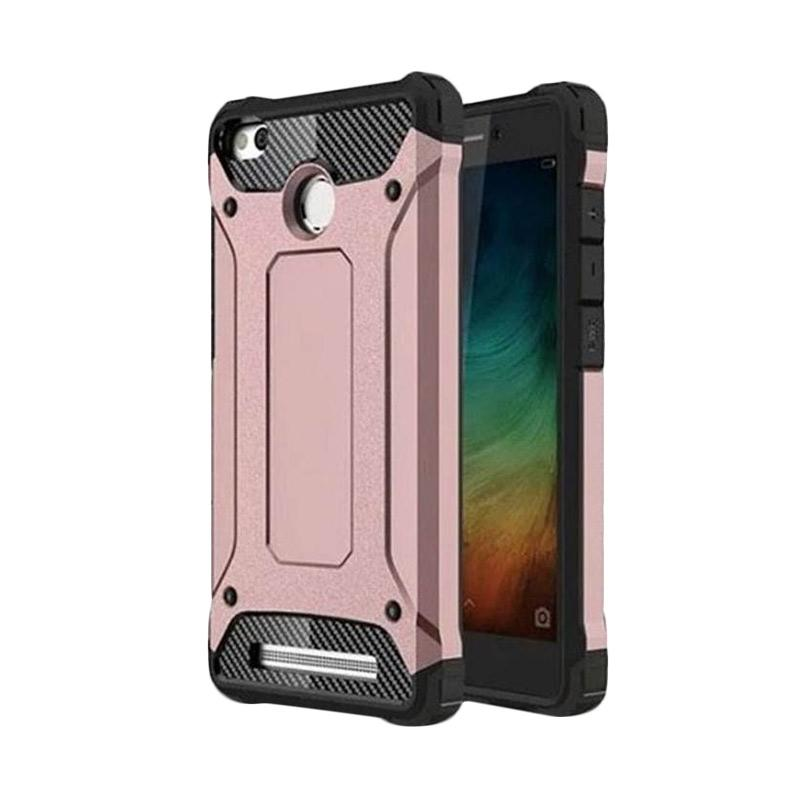 OEM Transformers Iron Robot Hardcase Casing for Xiaomi Redmi 3S - Rose Gold