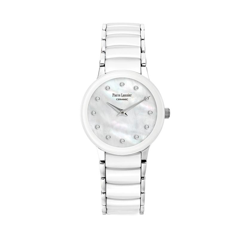 Pierre Lannier - Jam Tangan Wanita - Putih - Ceramic & Stainless Steel - 008D990