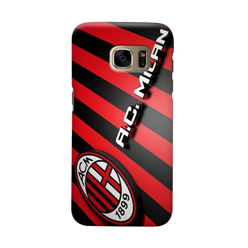 Indocustomcase AC Milan ACM05 Cover Casing for Samsung Galaxy S6 Edge