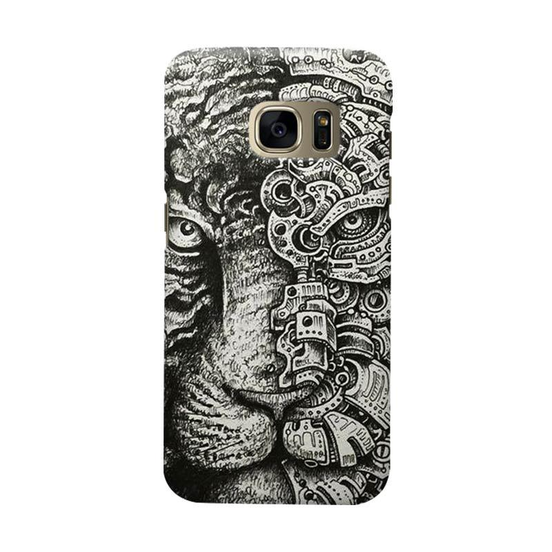 Indocustomcase Tiger Cover Casing for Samsung Galaxy S6 Edge