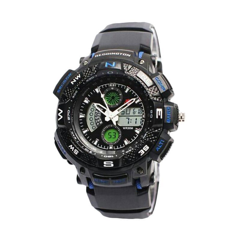 Reddington Sporty D47H110RD1310MHTMB Rubber Strap Dualtime Jam Tangan Pria
