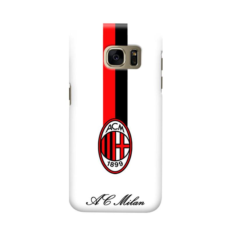 Indocustomcase AC Milan ACM07 Cover Casing for Samsung Galaxy S6 Edge