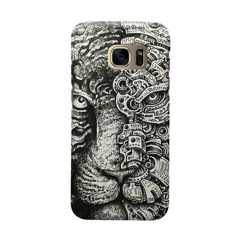Indocustomcase Tiger Casing For Samsung Galaxy S7 Edge