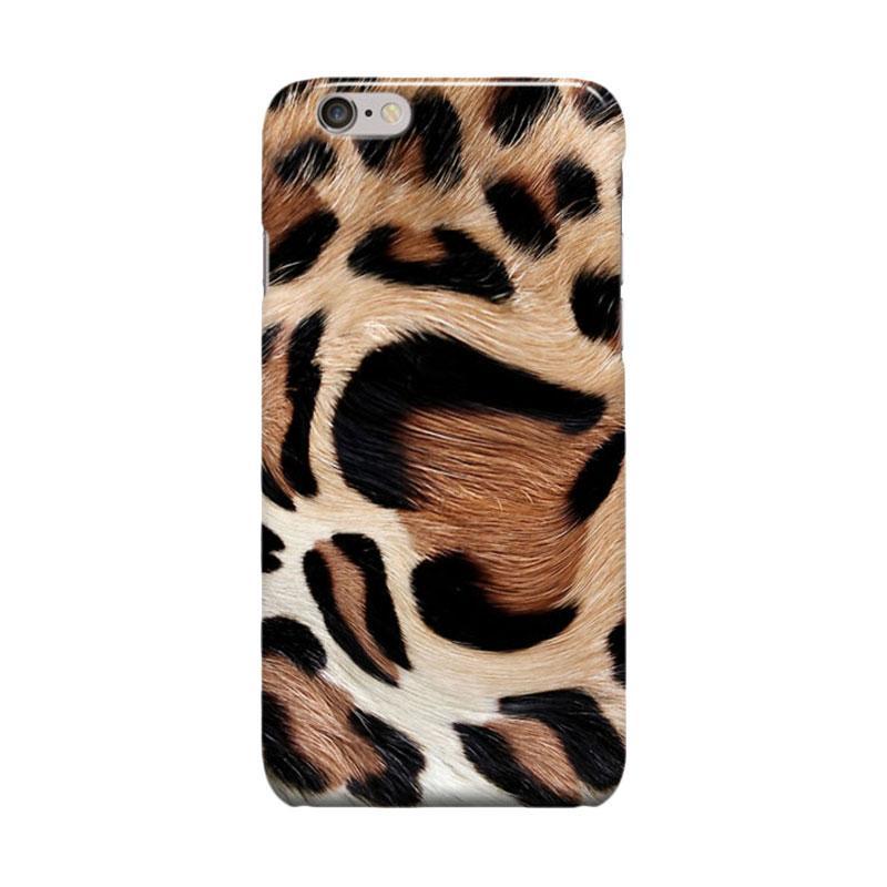 Indocustomcase Leopard Casing for Apple iPhone 6 Plus or 6S Plus