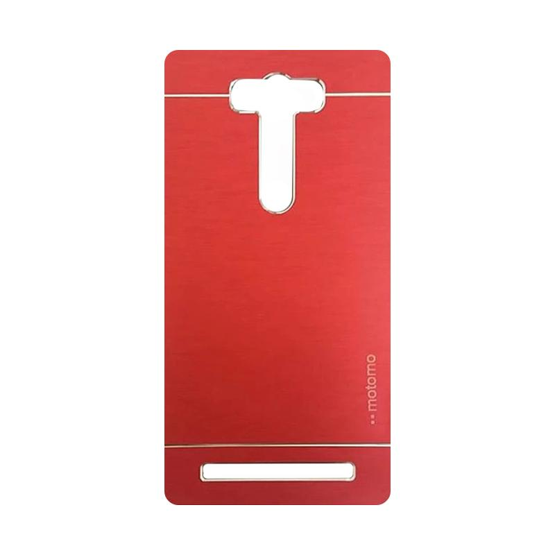 Motomo Metal Backcase Hardcase Casing for Asus Zenfone 2 Laser ZE550KL 5.5 Inch - Red