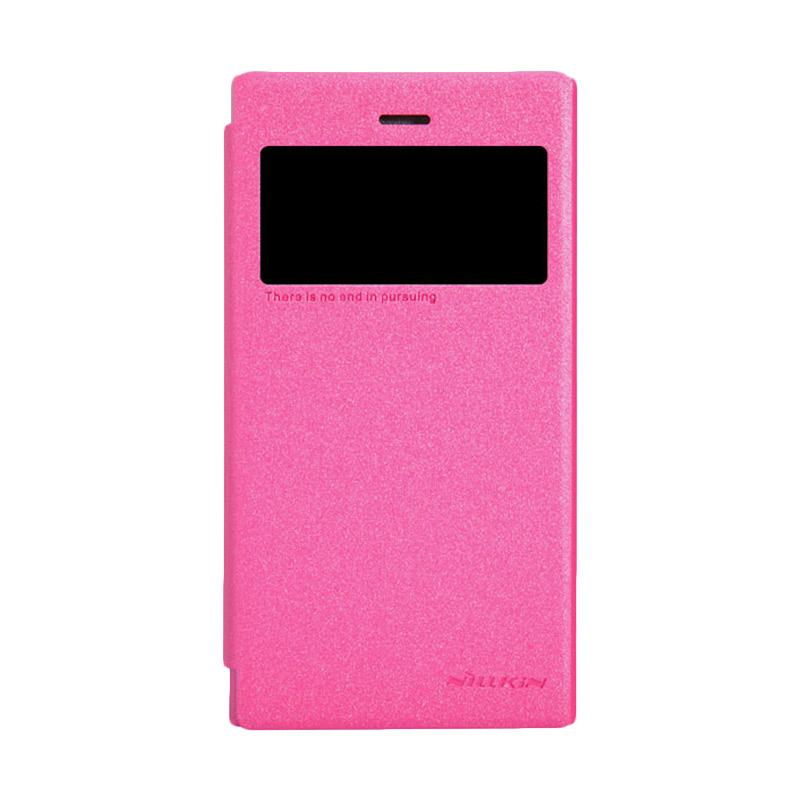 Nillkin Original Sparkle Leather Flip Cover Casing for Blackberry Z3 - Pink