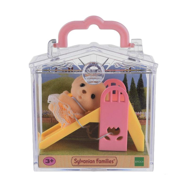 Sylvanian Families Baby Carry Case Dog on Slide