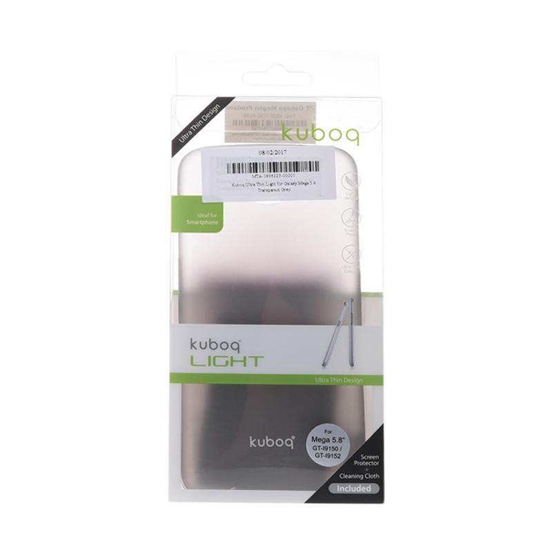 Kuboq Ultra Thin Light Casing for Samsung Galaxy Mega 5.8 - Transparent Grey