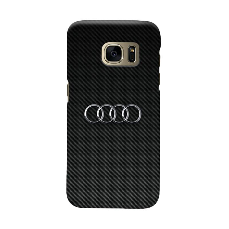 Indocustomcase Carbon Cover Casing for Samsung Galaxy S7 Edge