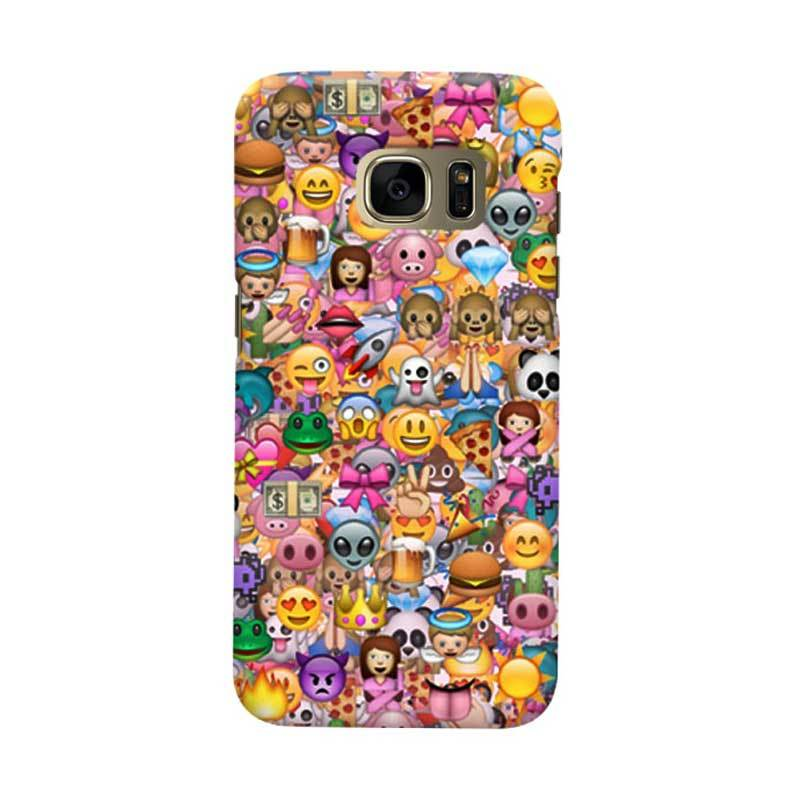 Indocustomcase Emoticon Cover Casing for Samsung Galaxy S6