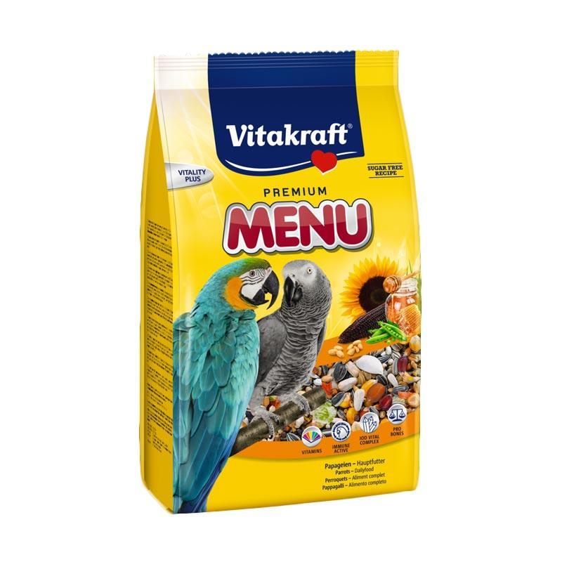 Vitakraft Menu Premium for Parrot Makanan Burung Kakatua [1 kg]