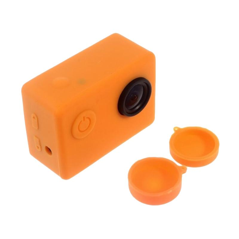Brica Silicone Case and Lens Cap for Action Camera Brica B-PRO Alpha Edition AE2s - Orange