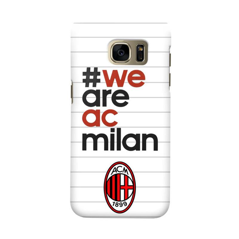 Indocustomcase AC Milan ACM03 Cover Casing for Samsung Galaxy S7