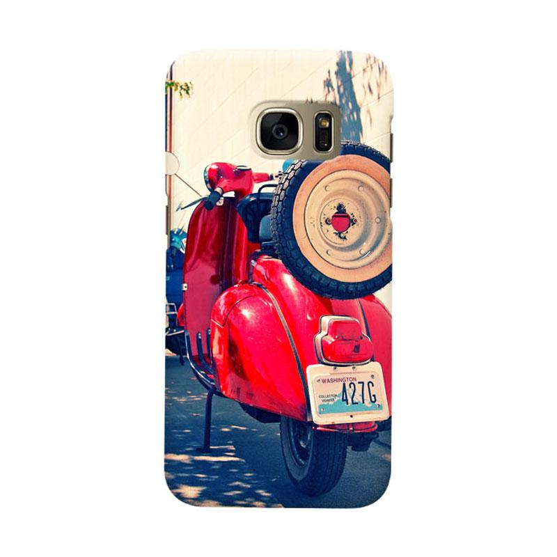 Indocustomcase Red Vespa Cover Casing for Samsung Galaxy S6