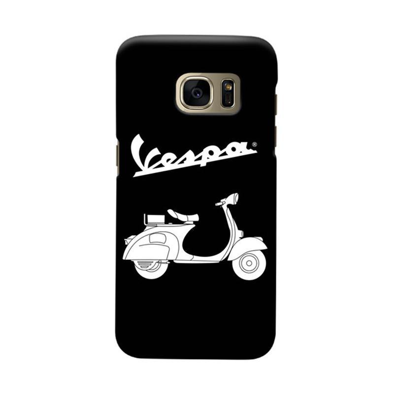 Indocustomcase Vespa Cover Hardcase Casing for Samsung Galaxy S7 Edge