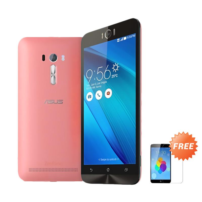 Ultrathin Aircase Casing for Asus Zenfone Laser 5.5 Inch - Red Clear + Free Tempered Glass Screen Protector