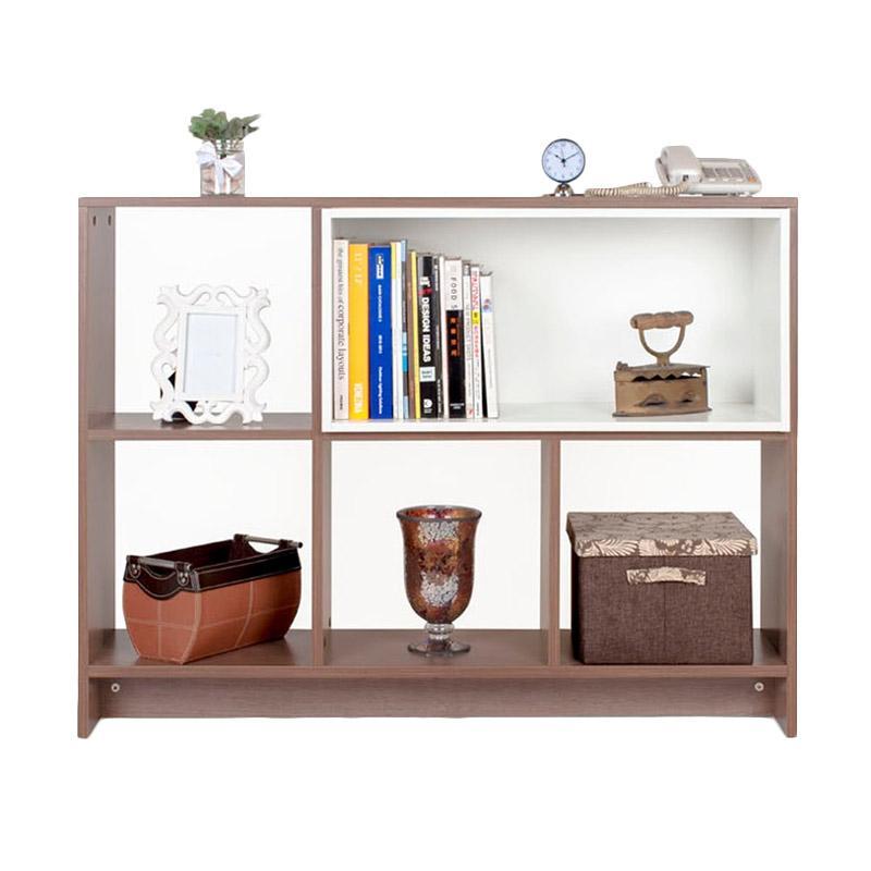 Ben Furniture Open Shelf Buffet 1 Melamine Lemari Pajangan [120 x 29 x 90.6 cm]