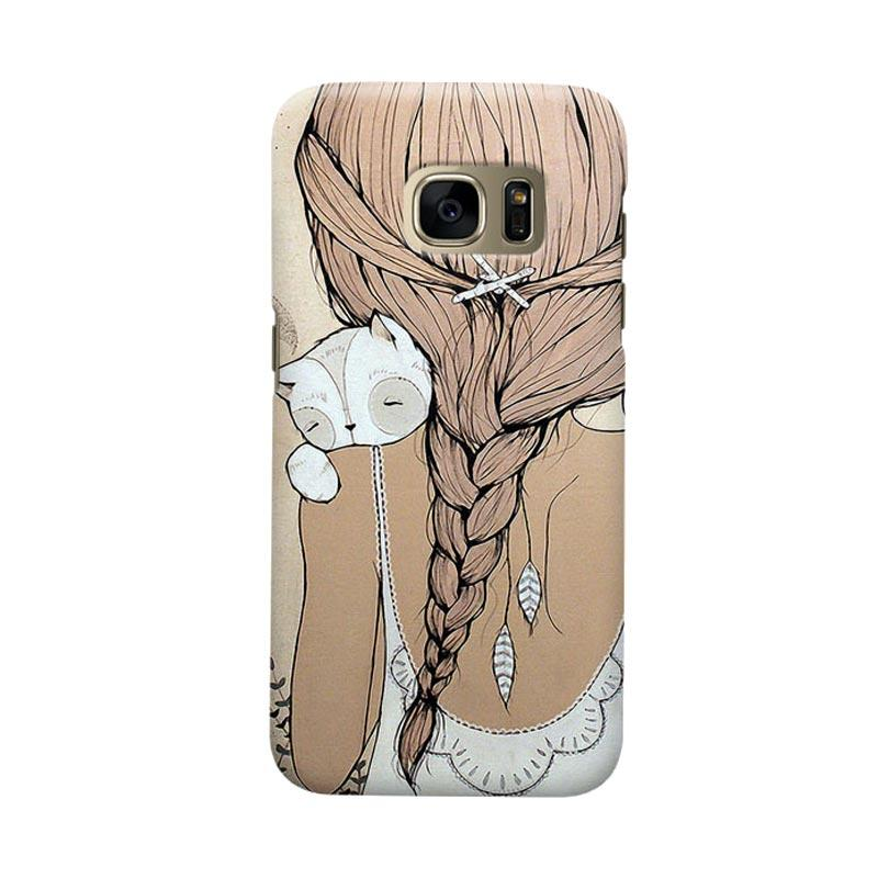 Indocustomcase Girls Cover Casing for Samsung Galaxy S6 Edge