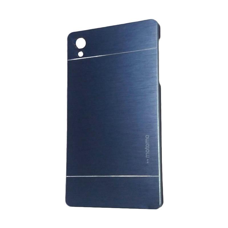 Motomo Metal Hardcase Backcase Casing for Sony Xperia Z5 or Z5 Dual - Dark Blue