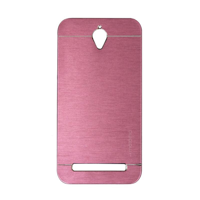 Motomo Metal Hardcase Casing for Asus Zenfone Go ZC451TG or ZC450TG 4.5 Inch - Pink