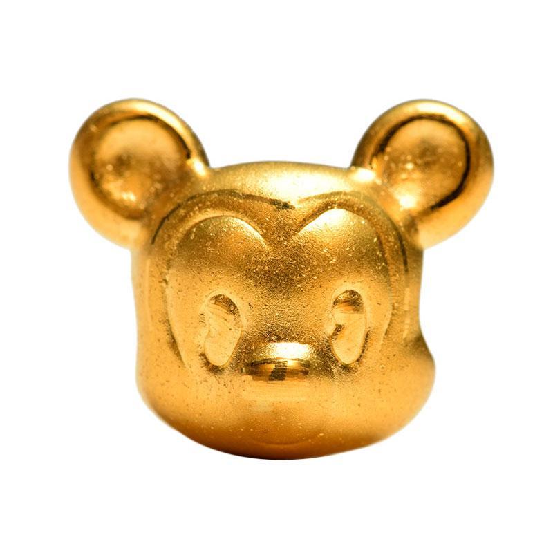 Tiaria 24K Golden Mouse Charm 0.7 Emas 24K Logam Mulia