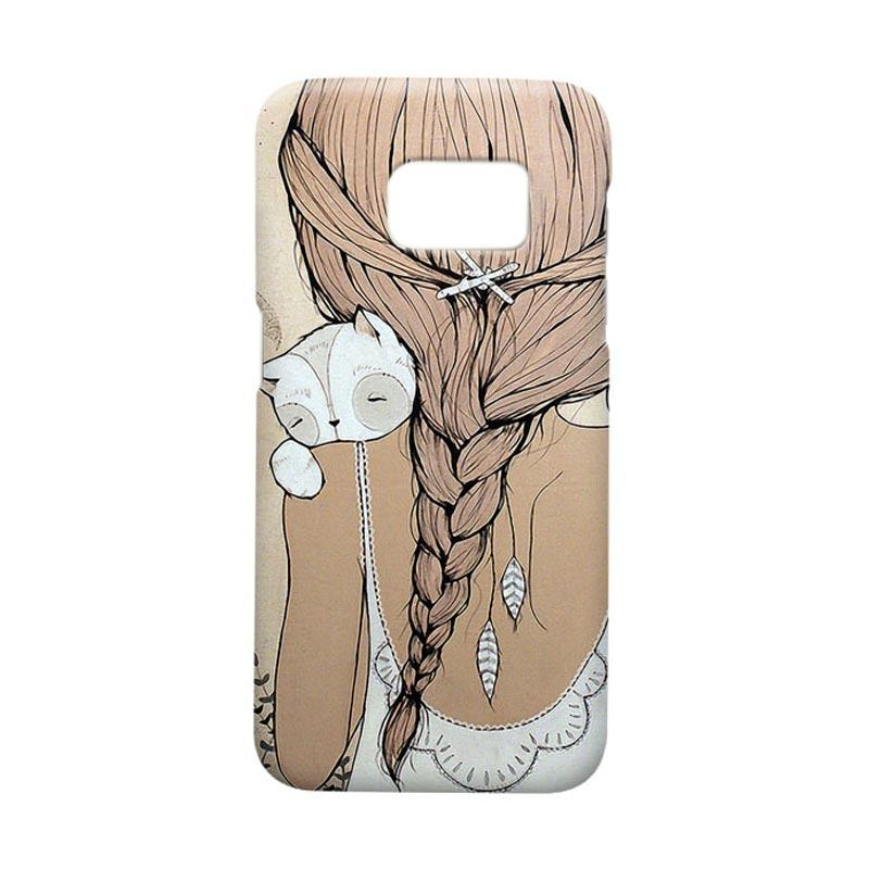 Indocustomcase Girls Cover Casing for Samsung Galaxy S7 Edge