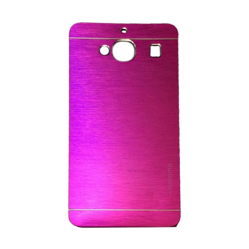 Motomo Metal Backcase Hardcase Casing for Xiaomi Redmi 2S or Redmi 2 Prime - Pink