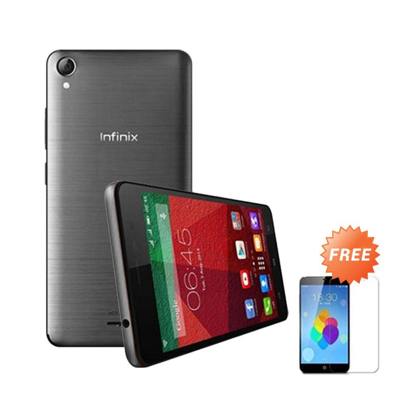 Ultrathin Casing for infinix Hot Note - Grey Clear + Free Tempered Glass