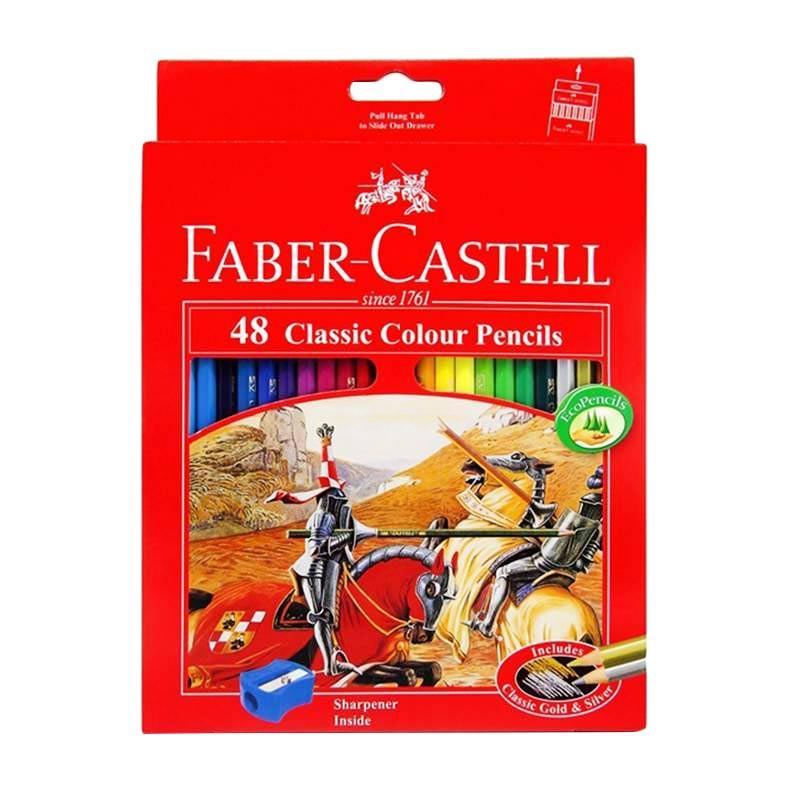 Faber Castell Pensil Warna Classic Colour Pencils Long [48 Colour]